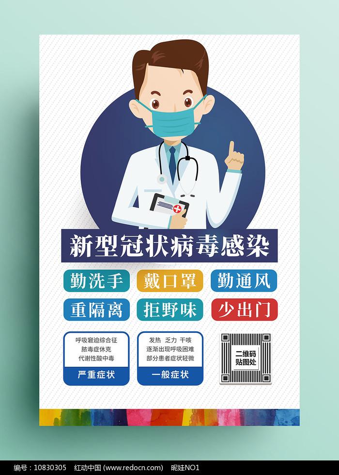 如何预防新型冠状病毒海报图片