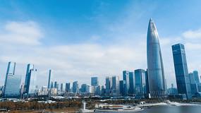 深圳湾航拍实拍视频素材