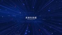 未来数据科技感文字标题开场动画AE模板