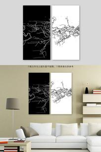 现代黑白线条装饰画
