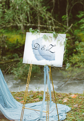 小清新婚礼欢迎牌