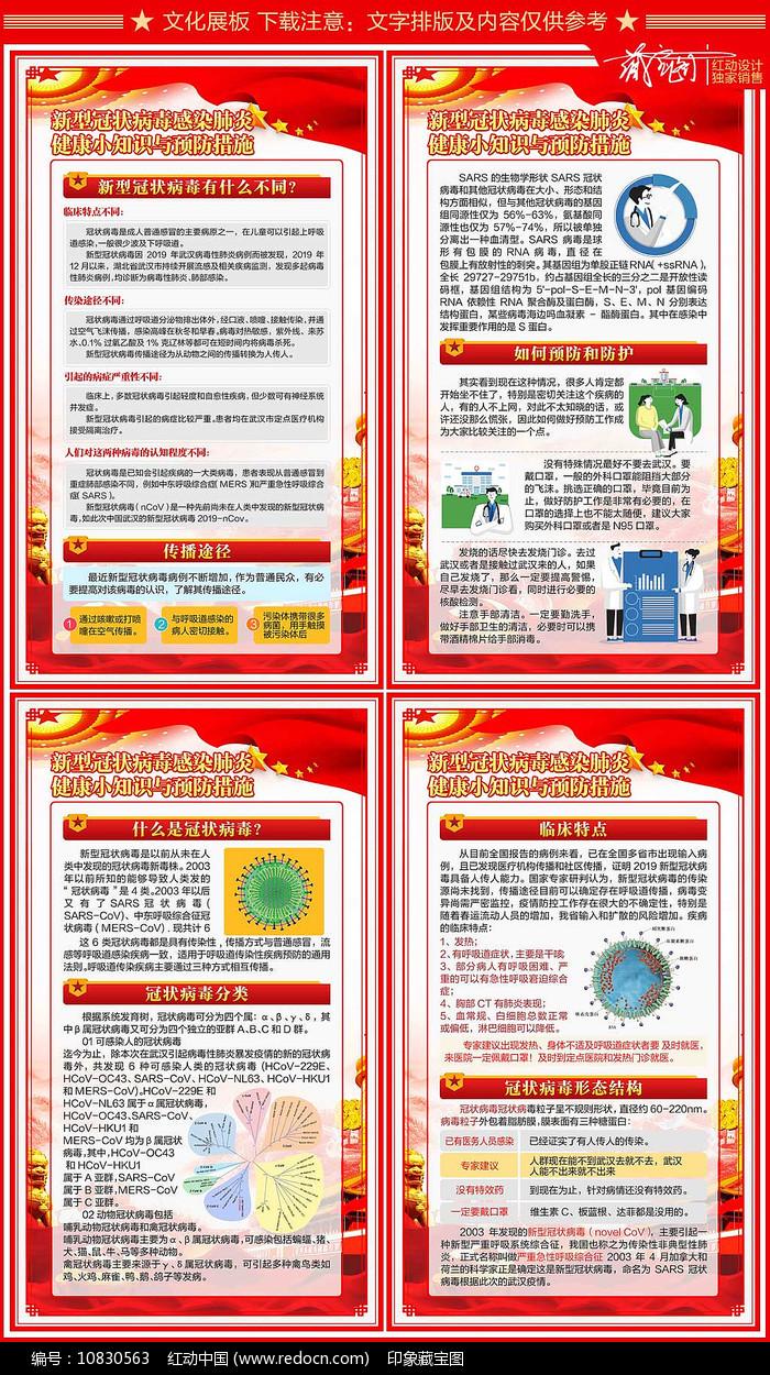 新型冠状病毒肺炎病毒预防知识展板设计图片