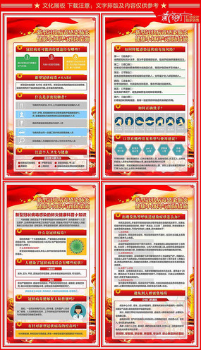 新型冠状病毒肺炎防疫知识展板设计