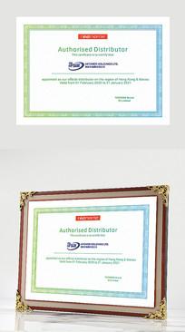 国际英文含防伪纹授权书模板