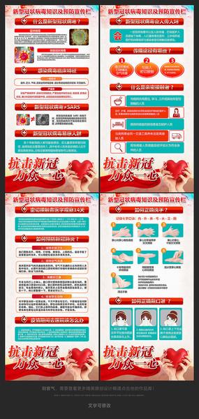 新型冠状病毒肺炎病毒预防知识展板