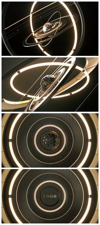 震撼科技logo片头演绎视频模板