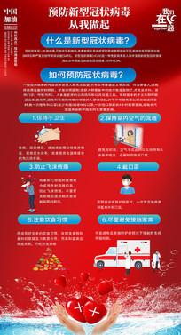 复工防控疫情新型冠状病毒海报