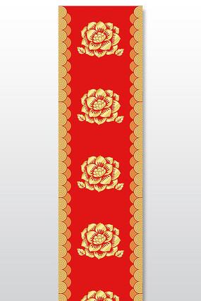 新中式汉唐祥云花纹T台图案设计