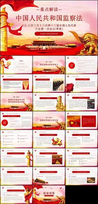 中华人民共和国监察法PPT模板