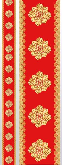 中式大紅金色漢唐花婚慶t臺圖案設計