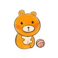 呆呆的小棕熊