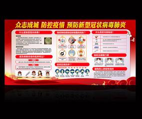 新型冠状病毒肺炎展板