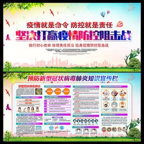 预防新型冠状病毒宣传展板