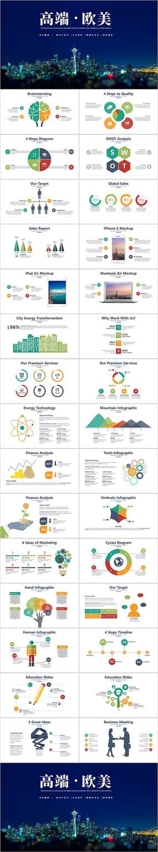 高端企業宣傳公司簡介PPT圖表模板