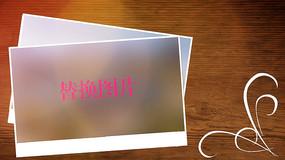 阳光木板相册写真图文展示PR模板