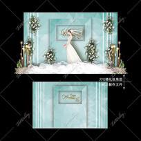 蒂芙尼蓝婚礼宴会效果图设计小清新婚庆