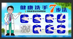 洗手7步法图解展板