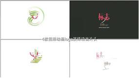 图形动画logo演绎动画片头AE模板