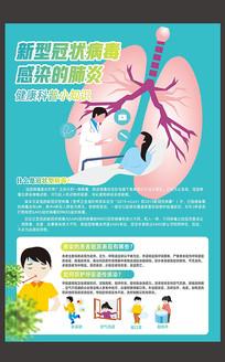 新型冠状病毒防护宣传海报