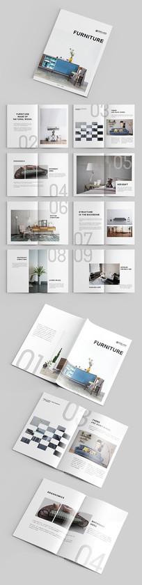 白色高端简约家具企业品牌画册 转曲