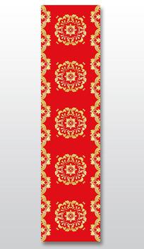 新中式红金色汉唐花婚庆t台地毯设计