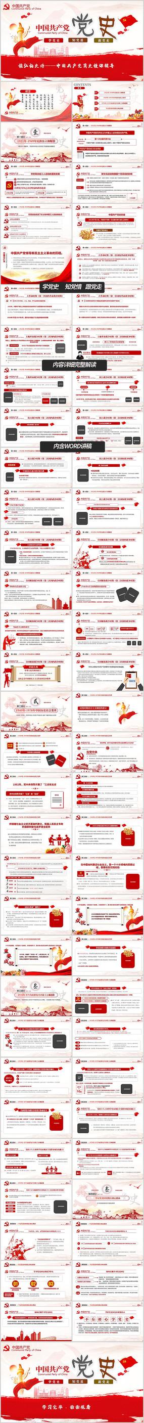 学习中国共产党党史党课解读ppt模板