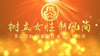 红金大气妇联党政片头妇女节AE模板