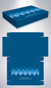 蓝色男装保暖内衣包装彩盒