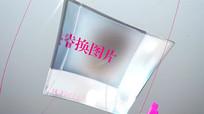 水晶方块展示图片动画时尚宣传片头AE模板