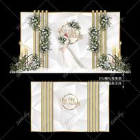 银色婚礼宴会背景效果图设计大理石纹婚庆
