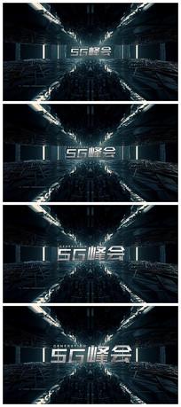 穿梭开场汇聚粒子科技logo展示视频模板