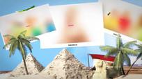 全球度假旅行图文展示广告片头AE模板