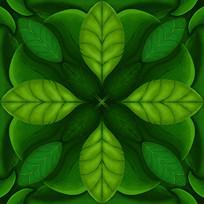 原创元素四方连续叶子图案