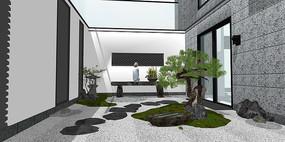 中式禅意庭院景观