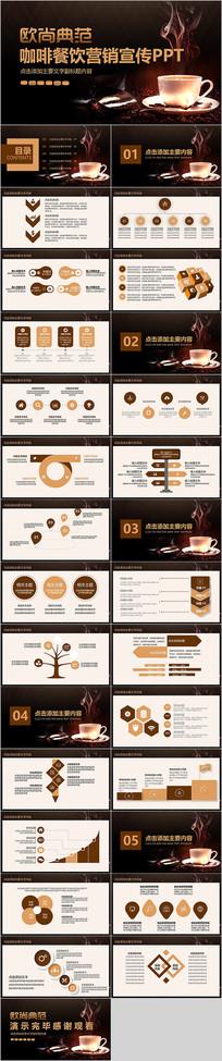 咖啡餐饮营销宣传PPT模板