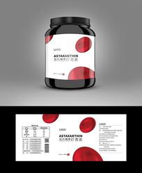 保健品高档虾青素保健品产品标贴包装设计