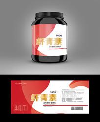 高档虾青素保健品标贴设计