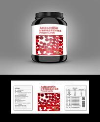 虾青素产品标贴高档包装设计