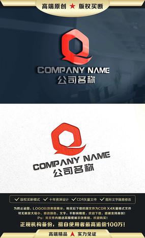 Q字母标志Q字母LOGO设计