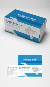 出口口罩包装盒平面设计图