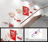 党的权利与义务楼道楼梯文化墙