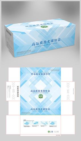 蓝色创意硒鼓彩盒包装 AI