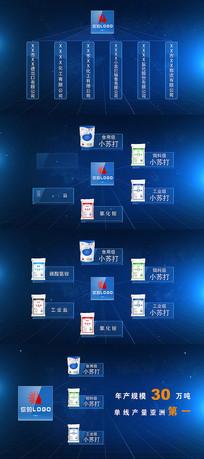蓝色科技企业架构流程产品分解AE模版