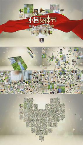 图片汇聚三八女王节女神节妇女节AE模板