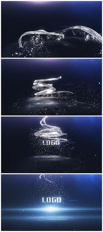 3D银色logo演绎片头视频模板