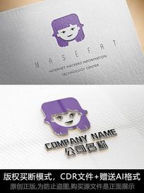创意女性logo女人标志简约商标