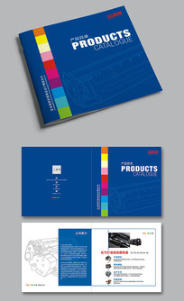 打印机耗材方形宣传画册封面模板