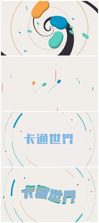 4K炫酷卡通动画演绎片头视频模板