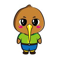 原创ai矢量可爱kiwi鸟卡通形象设计