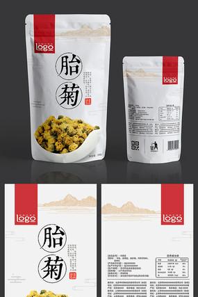 中国风胎菊菊花茶包装设计